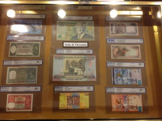 Examples of graded paper money in Chicago.